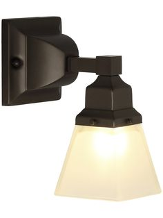 Mission Single Brass Sconce With Pyramid Shade