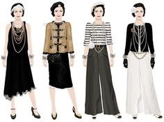 Chanel paper dolls!