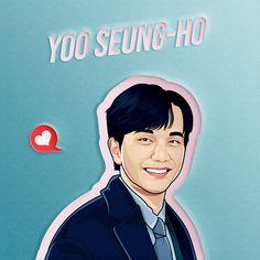 Yoo Seung-ho on Behance Yoo Seung Ho, Portraits, Graphic Design Illustration, Adobe Photoshop, Adobe Illustrator, Behance, Cartoon, Gallery, Roof Rack