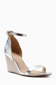 1bae24e92 Buy Silver Sandal Wedges from the Next UK online shop Wedge Sandals