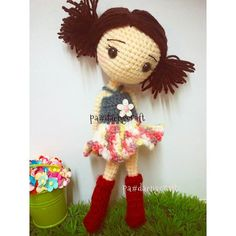 Amigurumi girl doll with bunches. (Inspiration).