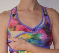 PDF sewing pattern for bikini and tankini with straight, gathered, maternity…