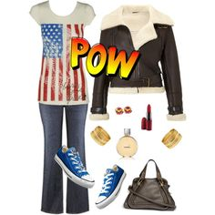 """Girl POW -er"" by amy-luking-mcdonald on Polyvore"