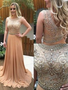 See Through Prom Dress,Champagne Evening Dress,Long Formal Dress,2017 Prom Dress,MA060