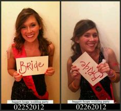 Must do for Bachlor Bachlorette Party...before party pic...after party pic!!!