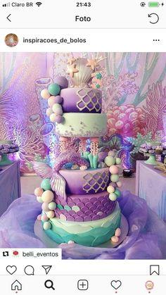 How to Make a Mermaid Birthday Cake - Banana Cupcake Ideen Mermaid Birthday Cakes, Little Mermaid Birthday, Little Mermaid Parties, Mermaid Cakes, Girl Birthday, Birthday Ideas, Mermaid Baby Showers, Baby Mermaid, Birthday Party Decorations