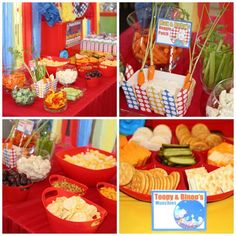 Eventageous Parties: The Toys are Out of the Box Birthday Party, Super Heros, Cartoon Characters, Max Ruby, Toopy Binoo