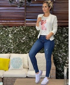 Easiest ways to make outfit jeans ideas 16 – wonders style Casual Work Outfits, Blazer Outfits, Mode Outfits, Classy Outfits, Stylish Outfits, Fall Outfits, Fashion Outfits, Summer Outfits, Outfit Jeans
