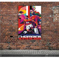 MANCHESTER UNITED CHAMPION ARTWORK POSTERS