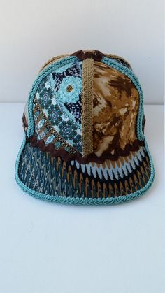 Handmade Snapback Hat One of a Kind Hat by BreezysCrownDesigns Snapback Hats d4488acf12a5