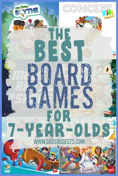 Discover our favorite family board games for 7-year-olds. The games on this list are some of our favorite board games of all time, and there's no expiration date on how long we are going to enjoy them either. Find your new favorite game for family game night. #familygamenight #kidsgames #familygames #boardgames #kidsboardgames #familyboardgames #tabletopgames #dadsuggests Toddler Board Games, Family Board Games, Board Games For Kids, Kid Games, Baby Games, Games To Play With Kids, Craft Activities For Kids, Rainy Day Games, Homemade Board Games