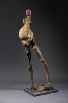 2000-2010 - Stephen De Staebler 'Pregnant Woman Walking', 2010, Bronze, 86 x 23 x 28 in