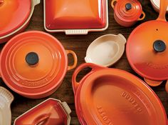 le creuset... my collection is started but i think i will want more until...forever