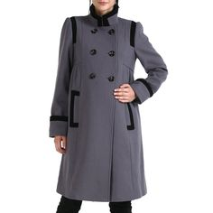 ff7519b8408a0 Shop Momo Maternity Women's 'Madison' Double Breasted Wool Blend Coat –  Gray M