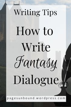 Want to be the next JRR Tolkien? Advice for writing dialogue for a fantasy book set in the past. Write old or medieval sounding dialogue that is realistic and not stilted or overly humorous. Writing Images, Book Writing Tips, Writing Resources, Writing Help, Writing Prompts, Writing Ideas, Writing Topics, Writers Notebook, Writers Write