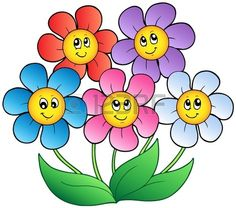 Illustration of Five cartoon flowers vector art, clipart and stock vectors. Flower Images, Flower Pictures, Disney Drawings, Cartoon Drawings, Cartoon Art, Flower Prints, Flower Art, Art Flowers, Illustration Blume
