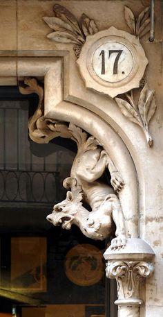 Barcelona - detall carrer del Carme  Catalonia