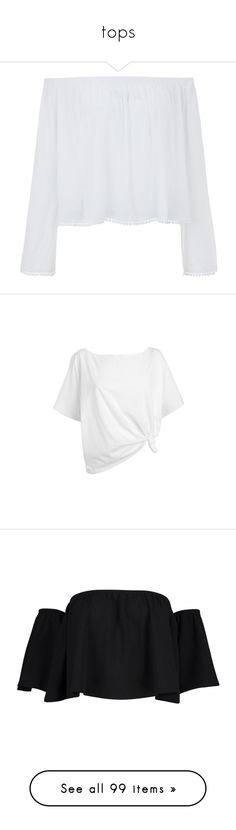 """""""tops"""" by shannonmichellex ❤ liked on Polyvore featuring tops, shirts, long sleeves, clothes - tops, off the shoulder tops, white top, summer shirts, long-sleeve shirt, long sleeve shirts and t-shirts"""