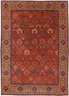 Important Antique Tabriz Rug CXT2