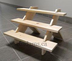 Portable wooden durable versatile 3-tier display by artsyjournals