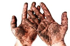 Jesus got dirty because of his love for us. Are we willing to dig in and get dirty to help others?  #digin #faithfulchoices