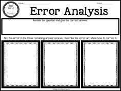 Error Analysis-allow students to understand how wrong answer choices are used as distractors.