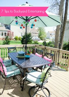 7 Tips for Backyard Entertaining || never thought of #7