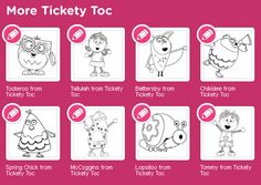 Coloring Pages--- http://www.nickjr.co.uk/create/tickety-toc/pufferty-colour-in