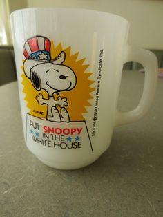 Vintage Mug Vintage Snoopy Mug1980 Snoopy Mug by BettyAndDot, $35.50