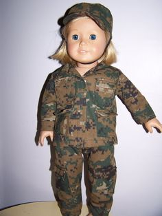 Army camoflage uniform fits American girl dolls by ritassewing