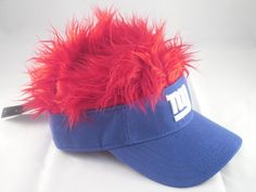 New York Giants Flair Hair Hat...Super Cool!    http://www.ebay.com/itm/Adult-Flame-FLAIR-HAIR-New-York-NY-Giants-NFL-Blue-Football-Golf-Hat-Visor-/261016617187?pt=US_Costume_Accessories=item3cc5cd80e3