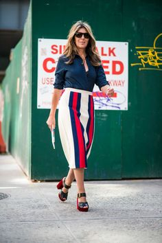 Marie Claire's Nina Garcia on the street at New York Fashion Week. Photo: Imaxtree. #SS17 #NYFW Sep 2016