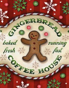Gingerbread Coffee House Poster