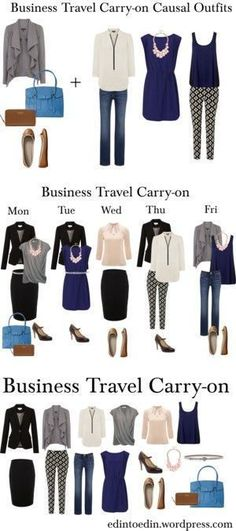 Inspiration on what to pack for your next #business trip. #women #fashion #businesstraveloutfits