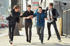 Kendall Schmidt, Logan Henderson, Carlos Pena Jr., and James Maslow from Big Time Rush