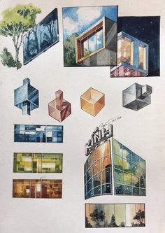 Interesting Find A Career In Architecture Ideas. Admirable Find A Career In Architecture Ideas. Architecture Concept Drawings, Architecture Sketchbook, Architecture Background, Interior Design Sketches, Sketch Design, Texture Drawing, Illustration, Drawing Techniques, Designs To Draw