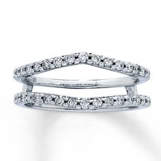 14K White Gold 1/2 Carat t.w. Diamond Solitaire Enhancer