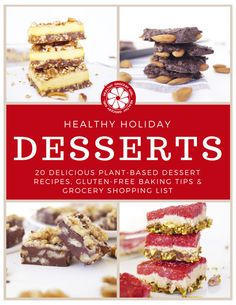 The Best Ideas for Healthy Holiday Desserts - Best Diet and Healthy Recipes Ever Healthy Christmas Treats, Healthy Holiday Recipes, Healthy Dessert Recipes, Holiday Desserts, Real Food Recipes, Healthy Sweet Snacks, Healthy Groceries, Diet Desserts, Vegan Baking