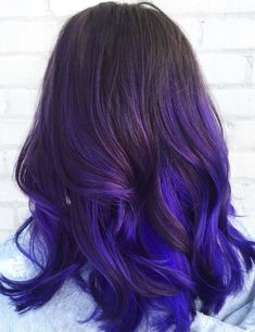 Ombre hairstyles purple and blue balayage ombre hair – purple hair and purple highlights purple to Dark Purple Hair Color, Ombre Hair Color, Hair Colors, Blue Purple Hair, Violet Hair, Black To Purple Ombre, Hair Color Ideas For Dark Hair, Violet Ombre, Color Black