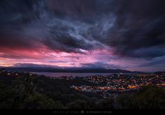 """Daybreak Wellington - Moody light and stormy clouds as the day breaks over the suburbs of Seatoun Heights and Miramar in Wellington, New Zealand.  Keep up to date with my latest photos on <a href=""""http://www.facebook.com/markgphoto"""">Facebook</a> Hang out with me on <a href=""""https://plus.google.com/+MarkGee"""">Google+</a> Follow me on <a href=""""http://www.twitter.com/markgcomau"""">Twitter</a> Check out some behind the scenes on  <a href=""""http://instagram.com/theartofnight/"""">Instagram</a…"""