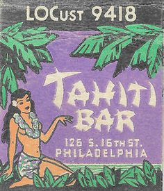 Critiki is a guide to over tiki bars, Polynesian restaurants and other sites of interest to the midcentury Polynesian Pop enthusiast. Part historic archive, part travel guide, and all tiki. Vintage Tiki, Vintage Hawaii, Vintage Ads, Vintage Prints, Tiki Bar Decor, Retro Graphic Design, Tiki Lounge, Matchbox Art, Retro Shirts