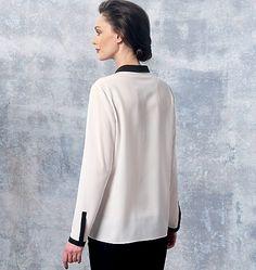V1463, Misses' Top and Shirt Anne Klein (back)