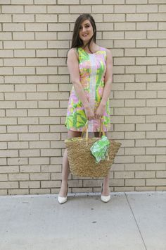 Lilly Pulitzer For Target dress and tote bag