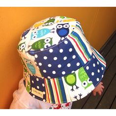 More owl love - this time in a boys bucket hat.