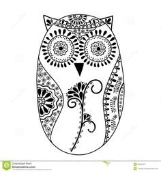 Abstract Floral Owl, Vector Royalty Free Stock Photography - Image: 26535237