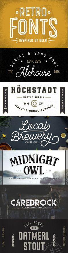 20 Beer Inspired Fonts for Breweries, Labels & Retro Designs