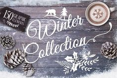 Winter collection +20 Bonus by Graphic Box on Creative Market #designtools #cutpaper