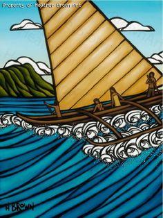 Surf art by Heather Brown - Original paintings & prints - waves, ocean, surf art from hawaii