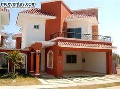 House Paint Design, House Front Wall Design, Bungalow House Design, Modern House Design, House Paint Exterior, Dream House Exterior, House Color Schemes, House Colors, Mexico House