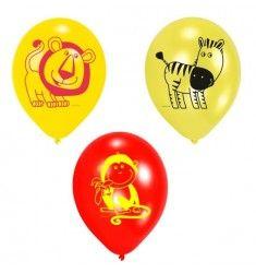 6 Ballons imprimés Safari